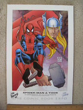 1998 SDCC Comic Book Expo EXCLUSIVE John Romita and JRJR SIGNED Spider-Man Thor