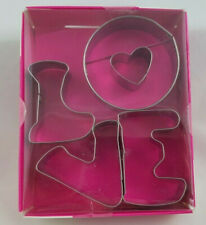 New listing New Way to Celebrate Love 4 Piece Metal Letter Cookie Cutter Set