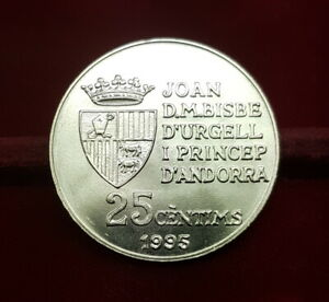 B-D-M Andorra 25 Cèntims - Joan Martí i Alanis FAO 1995 Km 109 SC UNC