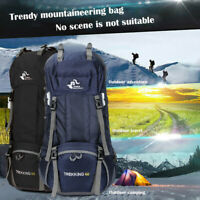 🎄60L Camping Travel Rucksack Trekking Outdoor Backpack Hiking Bag Daypacks USA