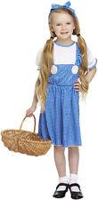 Niña 7-9 años CAMPESINA Mago De Oz Dorothy Tema Disfraces Disfraz De Carnaval