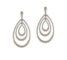 Sahani 'Tyra' Statement Swarovski Crystal Earrings NEW
