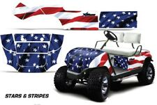 Cart Graphics Kit Decal Sticker Wrap For Yamaha Golf Car 1995-2006 Stars/Stripes