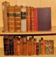 Collection of 20 Books Antique LEATHER Illustrated Scott Kipling Rev. Wood 1770