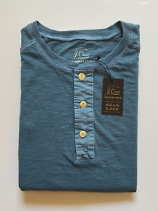 J Crew Mens Henley Long Sleeve (NWT) Pastel Turquoise UP TO 51% OFF MSRP