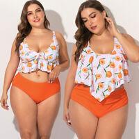 Womens Plus Size Swimwear Large Bikini Beach Halter Bra Bathing Suit Swimsuit