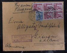 1937 Sevilla Spain Civil War Censored Commercial Cover To Giengen Germany