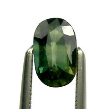 0.75 carat Oval 7x4mm Fancy Green Natural Australian Parti Sapphire Loose, OPS43