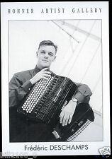 carte postale . honner artist Gallery. accordéon . Frédéric Deschamps .