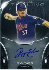 Ryan Eades 2013 Topps Bowman Sterling Prospects 2nd Round Autograph Auto