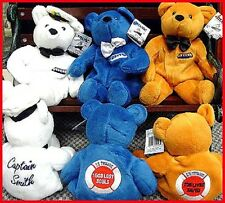 "TITANIC TRIO 8"" BEARS Bean Bag Toys 3 Teddy Bear 1990s Dart Flipcards MINT NEW!"