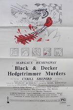 TEXAS CHAINSAW MASSACRE parody BLACK AND DECKER HEDGETRIMMER MURDERS film poster