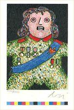 """Enrico Baj, """"Der kleine General"""", 1980 handsigniert"""