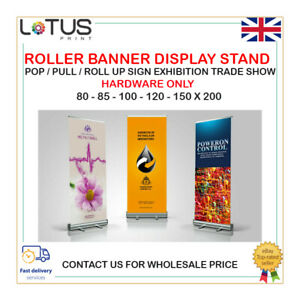 Roller Banner Display Stand - Pop / Pull / Roll Up Sign Exhibition HARDWARE ONLY