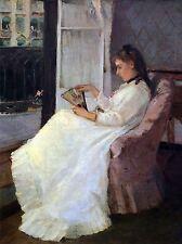 BERTHE MORISOT SUMMER YOUNG WOMAN AT WINDOW OLD ART PAINTING PRINT 398OMA