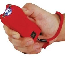 Self Defense Stun Gun RED Rechargeable 20 Million Volt LED plus free tazer case