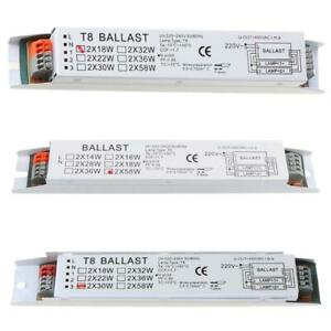T8 220-240V AC 2x58W Wide Voltage Electronic Ballast Fluorescent Lamp Ballasts