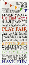 Playroom Rules Barn Owl Children Kids Room Print Poster 8x18