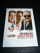 CHARLIE WILSON'S WAR, film card [Tom Hanks, Julia Roberts]