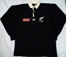 VTG STEINLAGER CANTERBURY of NEW ZEALAND POLO RUGBY ALL BLACKS SHIRT S 90s 1994