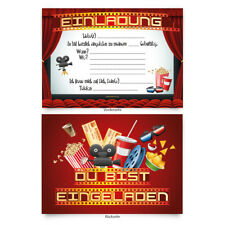 Einladungskarten (8 Stück) zum Selbst ausfüllen Kinder Geburtstag Motiv wählbar