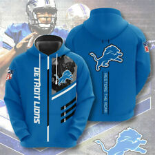 Detroit Lions Hoodie Men's Sports Sweatshirt Pullover Football Hooded Jacket