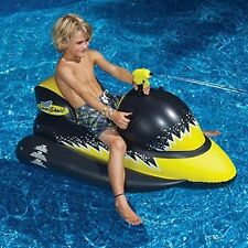Swimline Laser Shark Wet Ski Ride on Inflatable Pool Water Toy Squirt 9076
