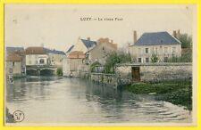 cpa Rare 58 - LUZY (Nièvre) Le Vieux PONT Hôtel du Lion d'Or Boucherie Buisson
