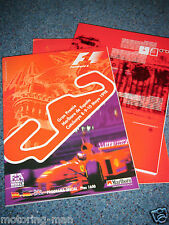 SPANISH CATALUNYA F1 GRAND PRIX PROGRAMME PRESS PACK KIT 1998 JACQUES VILLENEUVE