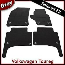 Volkswagen VW Touareg Mk1 2002-2010 Round Clips Tailored Carpet Car Mats GREY
