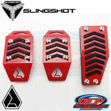 NEW 2015 - 2016 POLARIS SLINGSHOT ASSAULT INDUSTRIES RED FITTED PEDAL COVERS