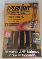 Speed Out Titanium 4 piece set Damaged Screw Extractor SpeedOut