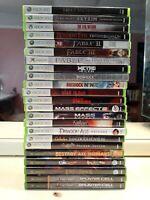 Lot Of 23 Xbox 360 & Original Xbox Games Resident Evil Skyrim Doom 3 BFG Dead Is