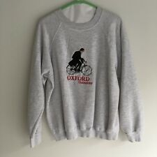 Vintage Oxford University Pullover Sweater Size Large Hanes Grey top
