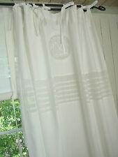 Vorhang MATHILDE WEISS Gardine 120x240 2 Stück Deko LillaBelle Landhaus Curtain