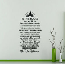 In This House We Do Disney Wall Decal Playroom Vinyl Sticker Poster Decor 116ct