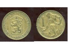 TCHECOSLOVAQUIE  1 koruna  1986  ( bis )