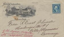 1923: Hotel Clarentlon, Seabreeze, Daytona, Florida to Hamburg, frw. Switzerland