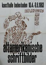 Josua Reichert, Kunsthalle Baden-Baden# ALTAMERIKANISCHE SCHRIFTBILDER #1963,nm-