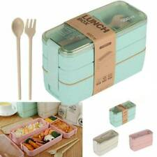 900ml 3 Layer Spoon Dinnerware Lunch Box Bento Food Storage Container