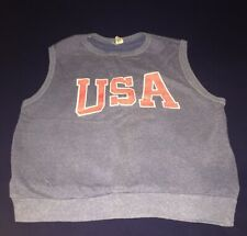 Mens Vintage Usa Sweater Tank Top Sportswear Large