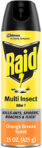 Raid Multi Insect Killer, Kills Ants, Spiders, Roaches and Flies, For Indoor and
