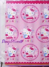 HELLO KITTY BATH FABRIC SHOWER CURTAIN KIDS GIRLS PINK 72 x 72 NEW