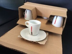 Lot 6 Tasses et sous tasses  Cafe Kimbo Napoli