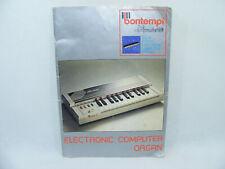 Notice BONTEMPI MEMOPLAY 26 Electronic Organ FRancais Italia Dutch English Piano