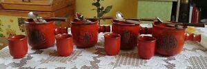 Traumfeuer Feuerzangenbowle 16 teilig insgesamt 4 Tassen und 4 Becher in rot TOP