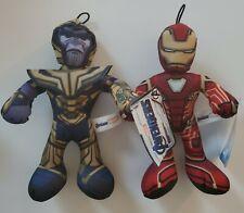 Iron Man & Thanos Marvel Comics Avengers Good Stuff Plush Lot of 2 NWT 10 inches