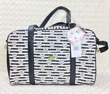 Betsey Johnson CRUISIN Cat Unicorn Weekender Duffle Bag Quilted Large