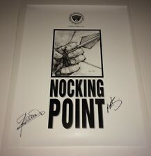 STEPHEN AMELL Hand SIGNED ARROW NOCKING POINT 18x24 Original Poster PROOF