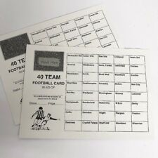 20 x 40 TEAM FOOTBALL FUNDRAISING SCRATCH CARDS UK TEAM NAMES GREAT QUALITY!!